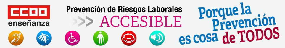 Comisiones Obreras Enseñanza. Prevención de Riesgos Laborales Accesible. Porque la prevención es cosa de Todos