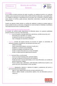 Ficha 4 Niveles de conflicto. general