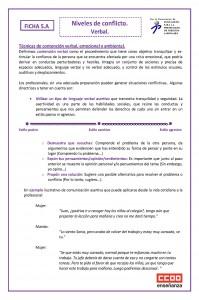 Ficha 5 Niveles de conflicto. verbal