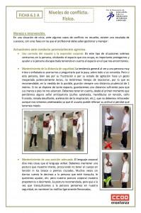 Ficha 6.1. Niveles de conflicto. fisico